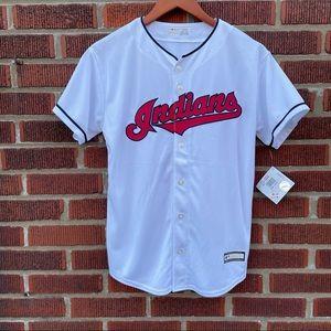 🆕 Boys Cleveland Indians Baseball Jersey Large